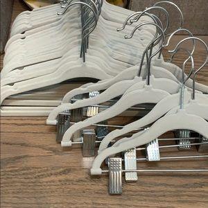 Velvet baby hangers tops and bottoms grey